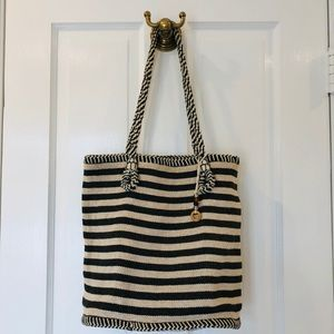 Bohemian striped tote